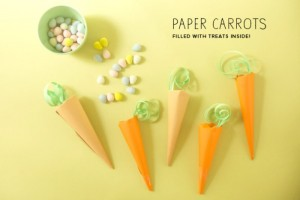 DIY de Páscoa - Reutilize sobras de papel para fazer cenouras divertidas